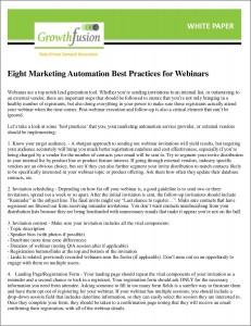 Best Practices for Webinars