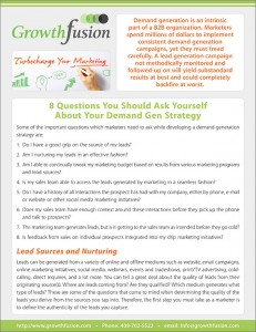 8 questions Demand Gen Strategy