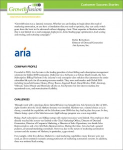 GrowthFusion - ARIA Systems Case Study
